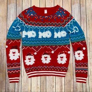 No Boundaries Womens Christmas sweater Sz M 7-9